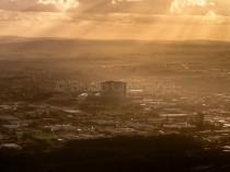 photo aérienne chu CAEN