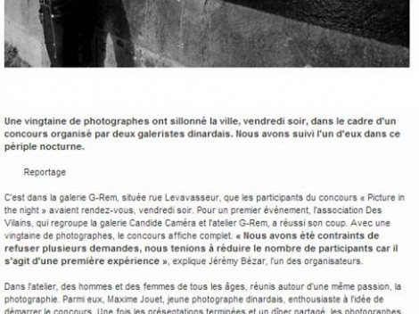 Article journal Ouest-France du 2 novembre 2013