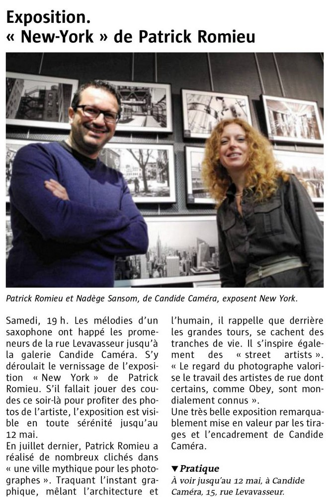 Candide Camera Dinard - Exposition photo Patrick Romieu, New York