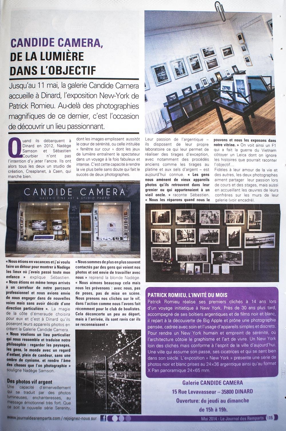 Candide Camera - Une page dans Le-journal-des-remparts