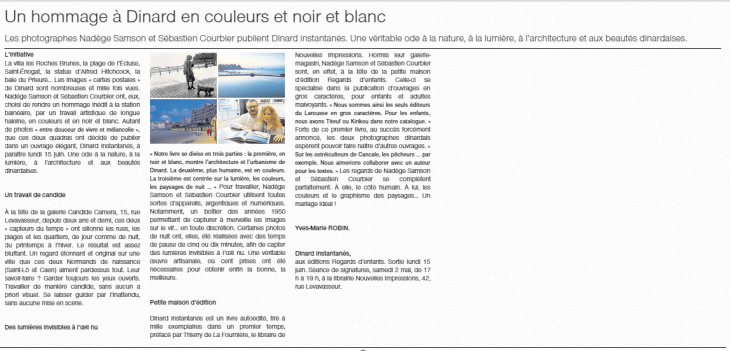 Article Ouest France 27-04-15